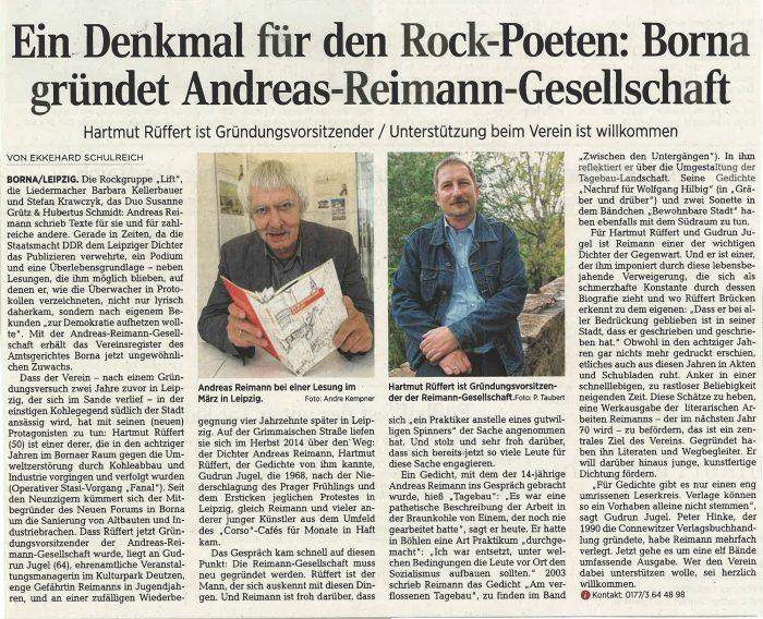 Andreas-Reimann-Gesellschaft e.V. gegründet.